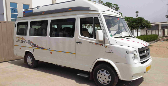 Tempo Travellers on rent